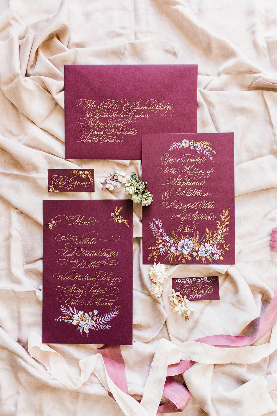 Calligraphy for weddings by Claire Gould, By Moon and Tide Calligraphy UK (13)