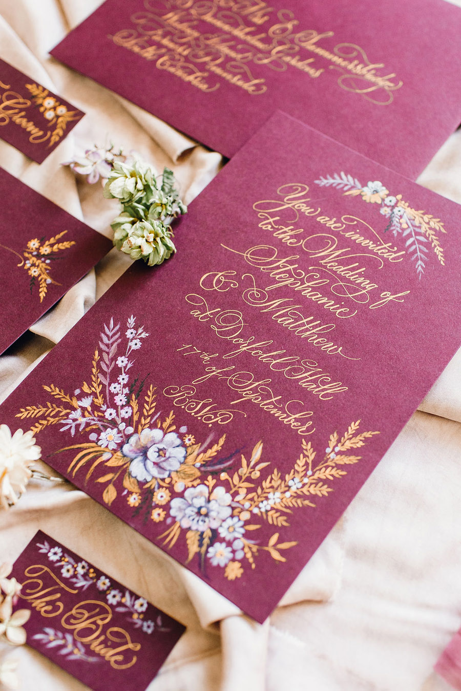 Calligraphy for weddings by Claire Gould, By Moon and Tide Calligraphy UK (11)