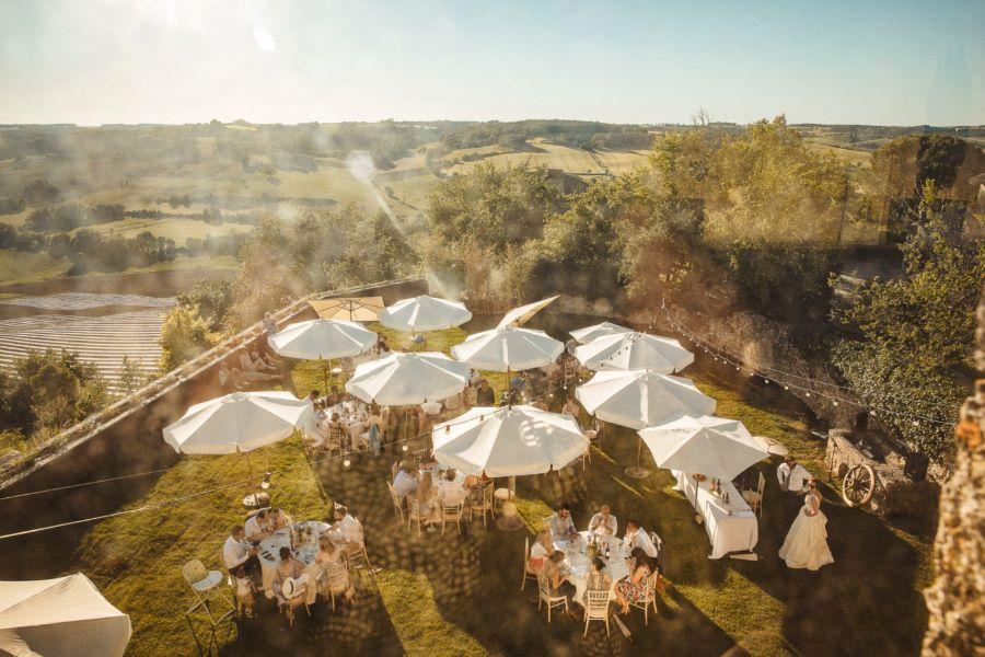 Isasouri Photo Wedding in France at the Castelnau des Fieumarcon