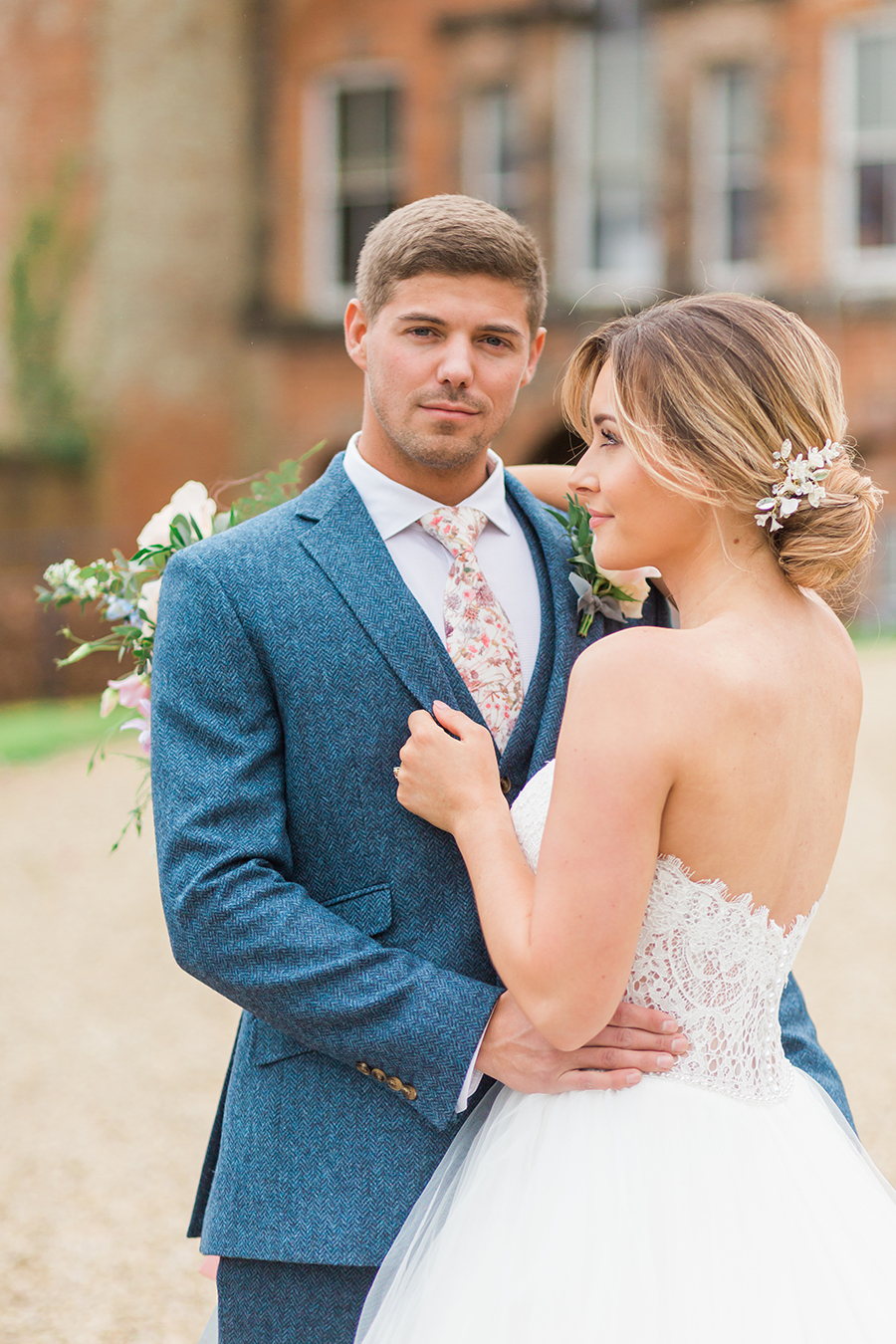 "Country Dreams""-A Baroque Inspired, modern romantic English Country wedding shoot with soft pinks and powder blues infused with antique gold. (13)"