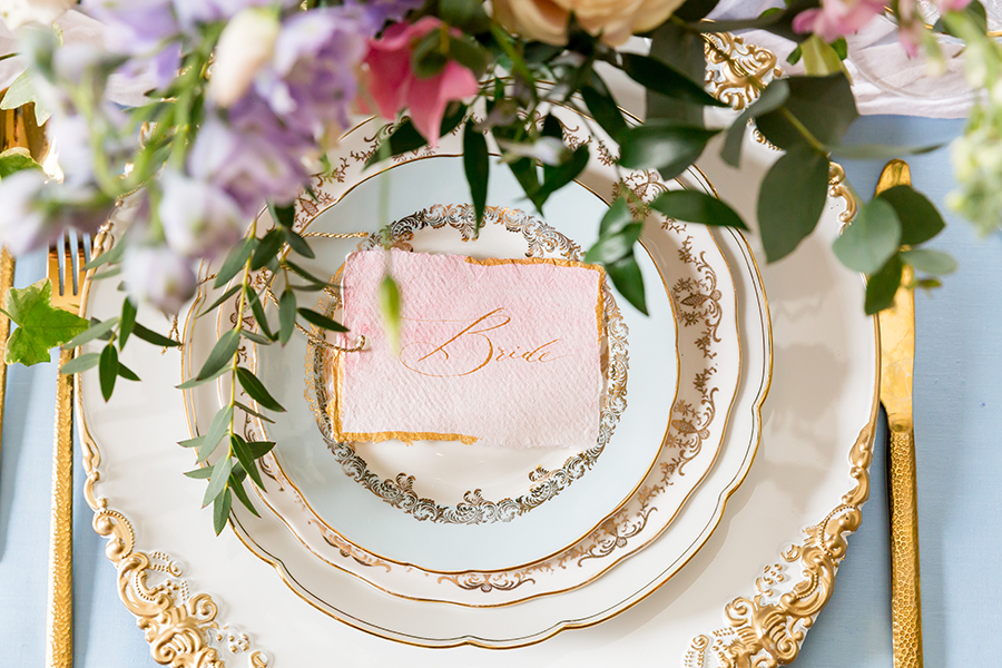 "Country Dreams""-A Baroque Inspired, modern romantic English Country wedding shoot with soft pinks and powder blues infused with antique gold. (33)"