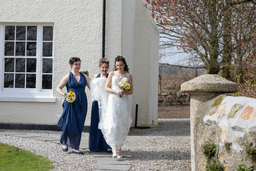 Hannah & Jess's rustic spring wedding at The Green, Cornwall, with Evolve Photography (15)