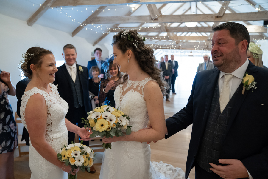 Hannah & Jess's rustic spring wedding at The Green, Cornwall, with Evolve Photography (18)