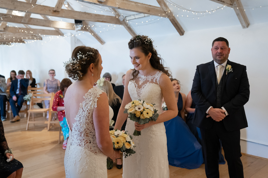 Hannah & Jess's rustic spring wedding at The Green, Cornwall, with Evolve Photography (19)