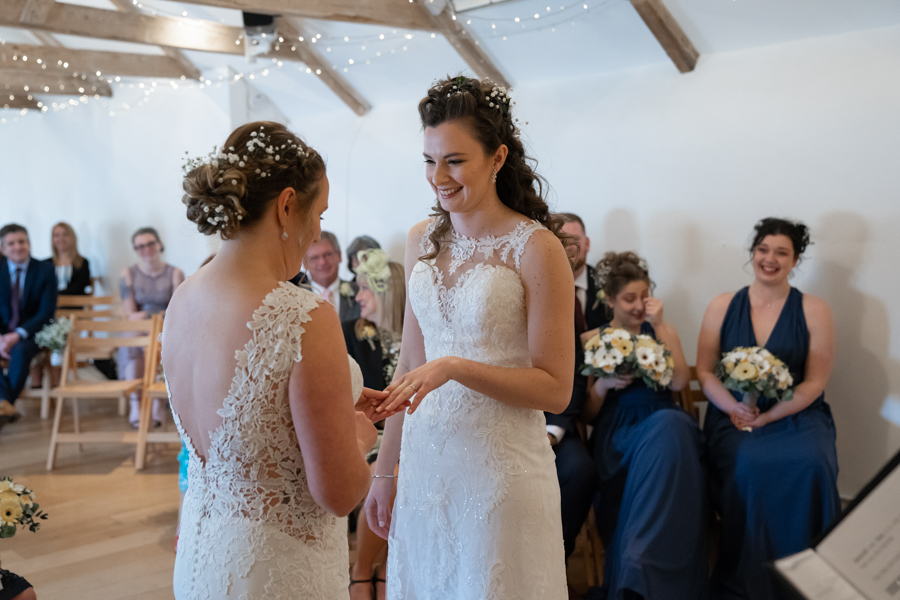 Hannah & Jess's rustic spring wedding at The Green, Cornwall, with Evolve Photography (20)