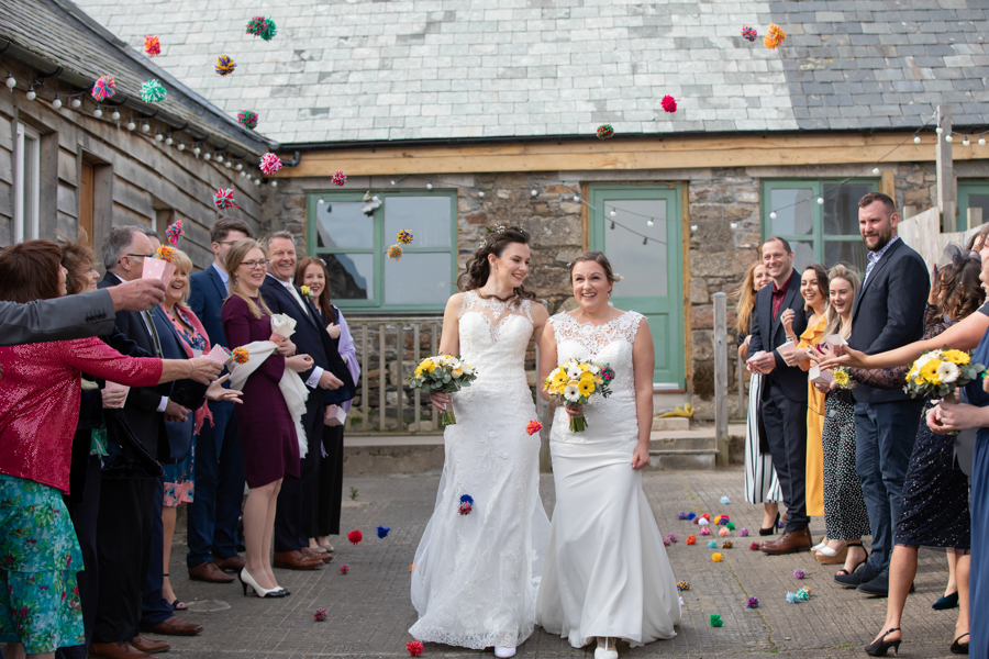 Hannah & Jess's rustic spring wedding at The Green, Cornwall, with Evolve Photography (23)