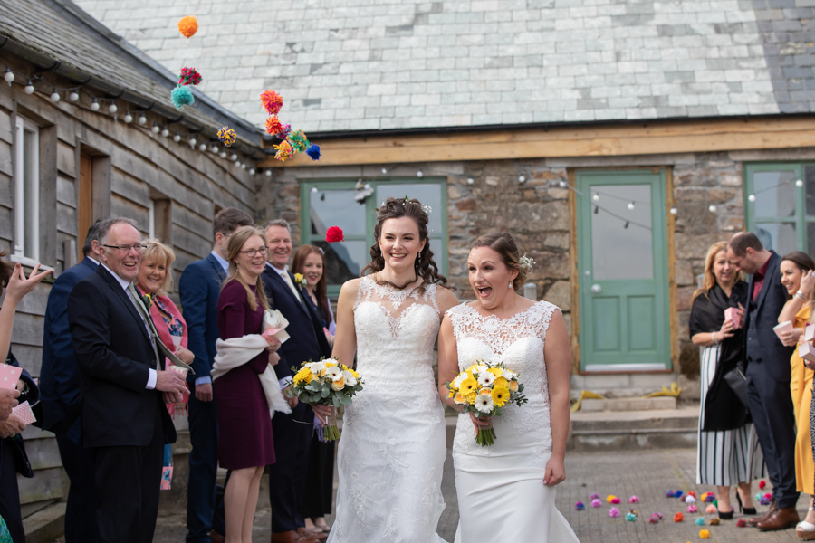 Hannah & Jess's rustic spring wedding at The Green, Cornwall, with Evolve Photography (24)