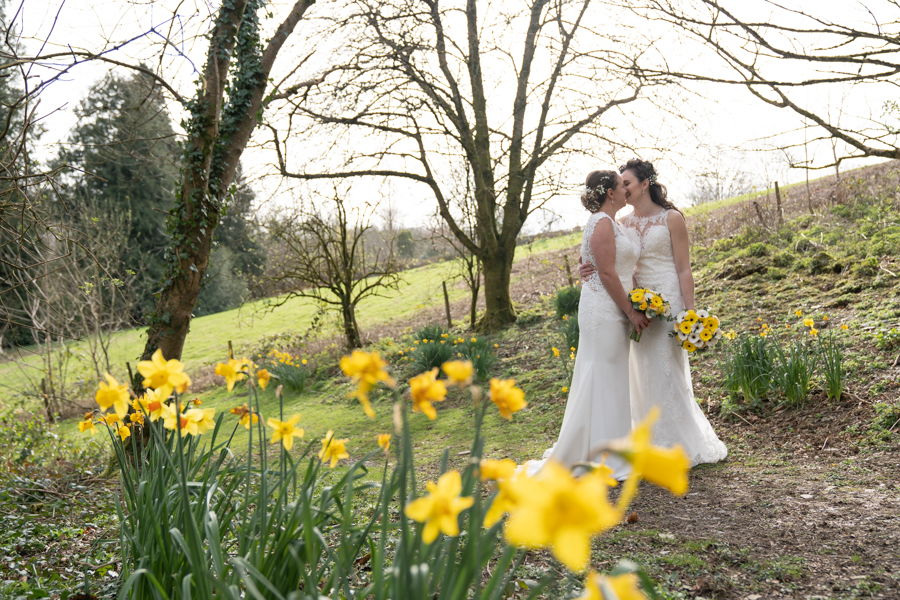 Hannah & Jess's rustic spring wedding at The Green, Cornwall, with Evolve Photography (29)