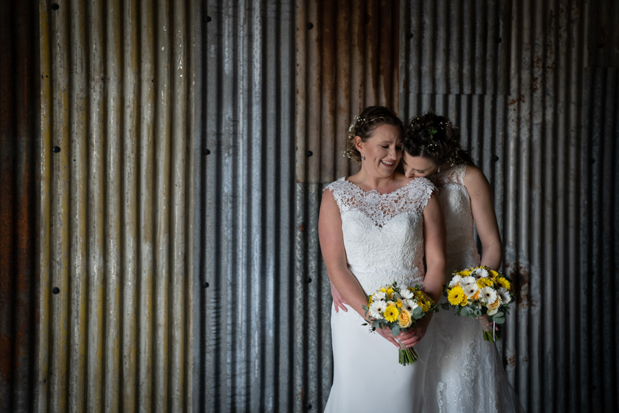 Hannah & Jess's rustic spring wedding at The Green, Cornwall, with Evolve Photography (33)