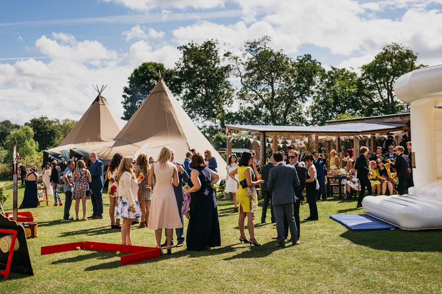 Nicola & Alex's joyful festival and tipi wedding at Talton Lodge, with John Hope Photography (23)