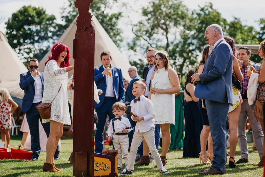 Nicola & Alex's joyful festival and tipi wedding at Talton Lodge, with John Hope Photography (24)