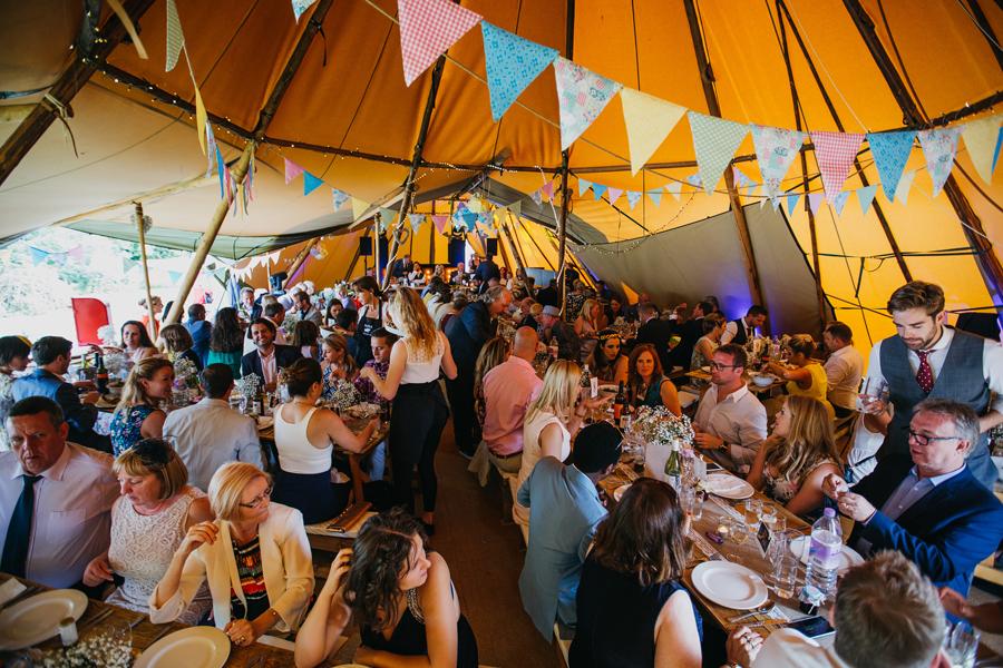 Nicola & Alex's joyful festival and tipi wedding at Talton Lodge, with John Hope Photography (38)