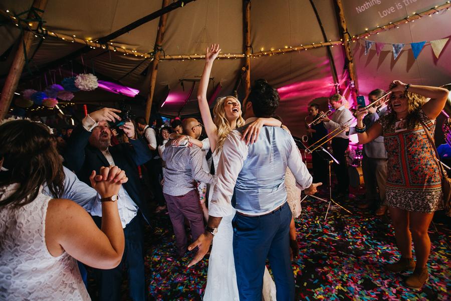 Nicola & Alex's joyful festival and tipi wedding at Talton Lodge, with John Hope Photography (44)