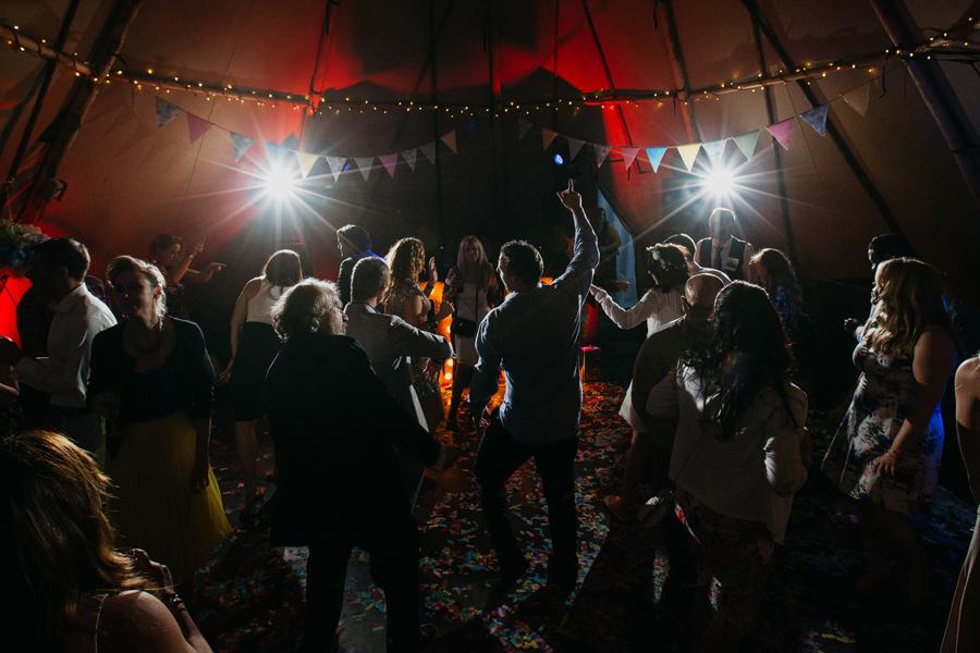 Nicola & Alex's joyful festival and tipi wedding at Talton Lodge, with John Hope Photography (45)