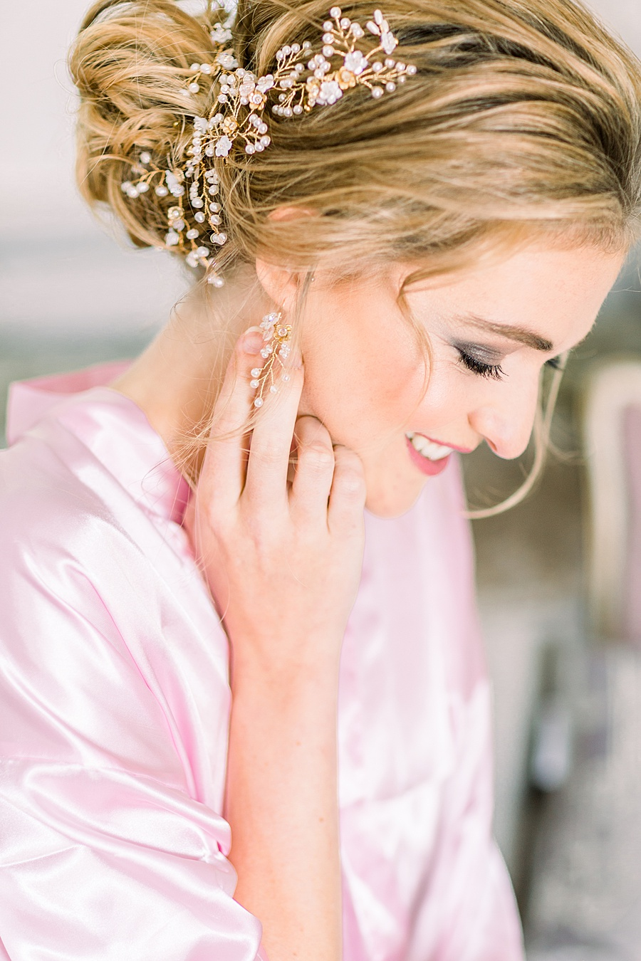 Timeless Elegance - a classic pink wedding editorial from Old Brook Barn (4)