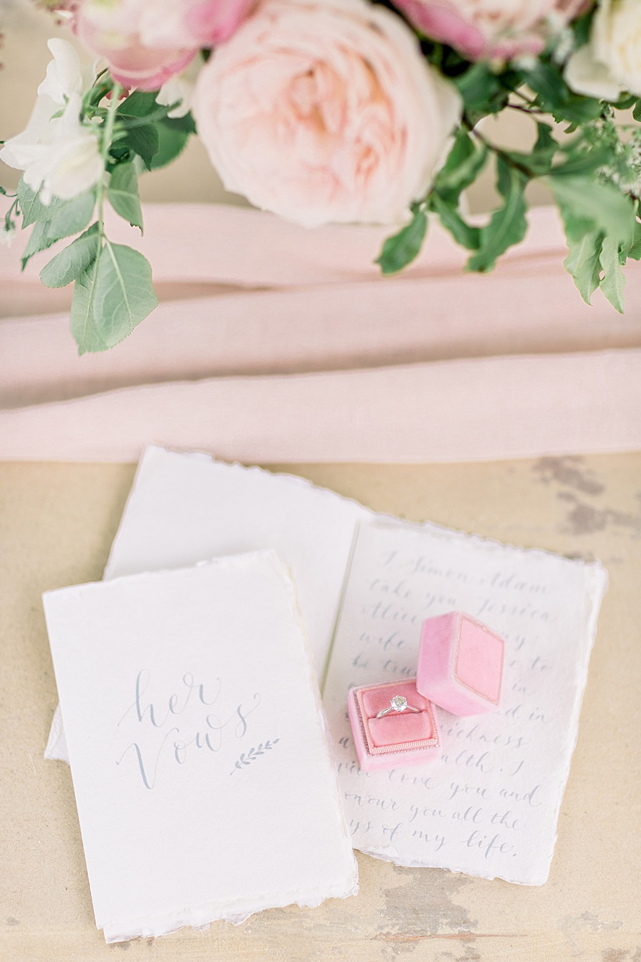 Timeless Elegance - a classic pink wedding editorial from Old Brook Barn (10)