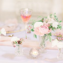 Timeless Elegance – a classic pink wedding editorial from Old Brook Barn