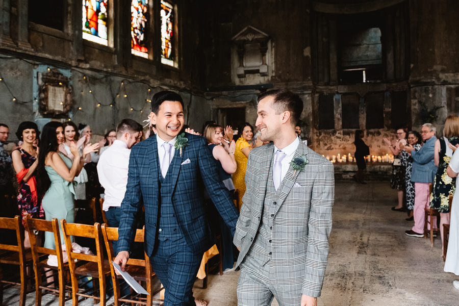 Real Wedding, Grooms at The Asylum, captured by Fiona Kelly Photography