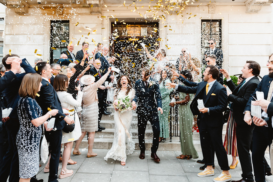 Real Wedding at Town Hall Hotel, captured by Fiona Kelly Photography