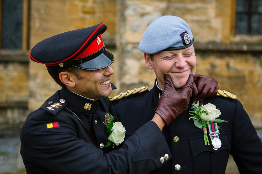 Richard & Ruth's military black tie wedding at Sherborne Abbey, with Nisha Haq Photography (12)
