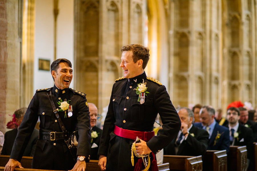 Richard & Ruth's military black tie wedding at Sherborne Abbey, with Nisha Haq Photography (13)