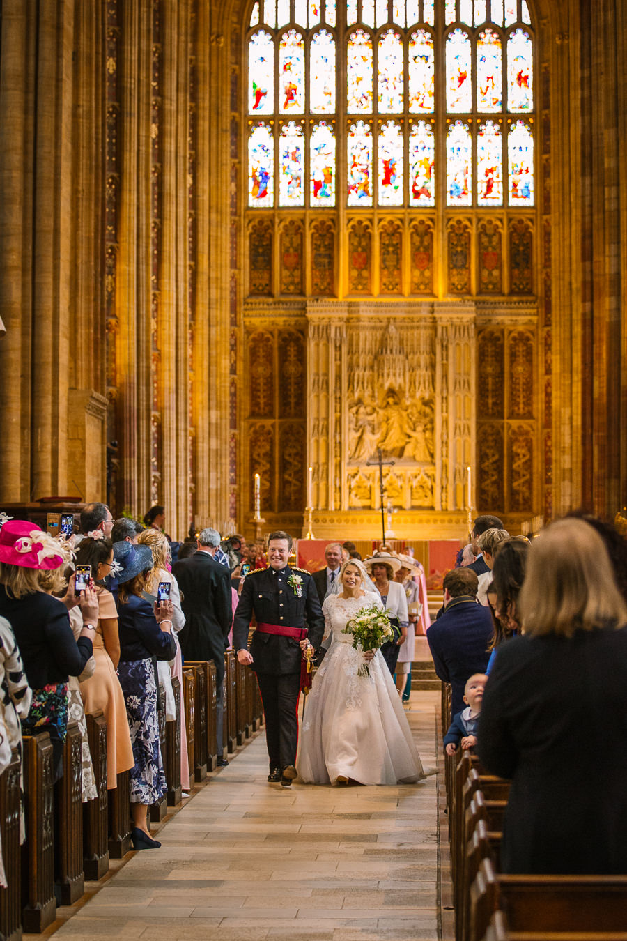 Richard & Ruth's military black tie wedding at Sherborne Abbey, with Nisha Haq Photography (18)