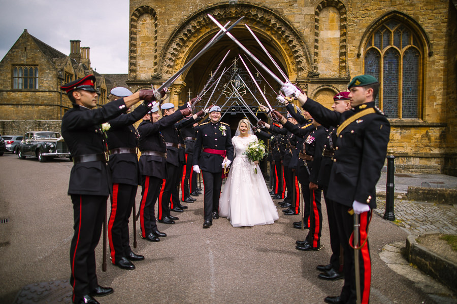 Richard & Ruth's military black tie wedding at Sherborne Abbey, with Nisha Haq Photography (19)