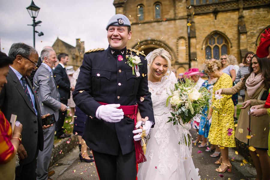 Richard & Ruth's military black tie wedding at Sherborne Abbey, with Nisha Haq Photography (21)