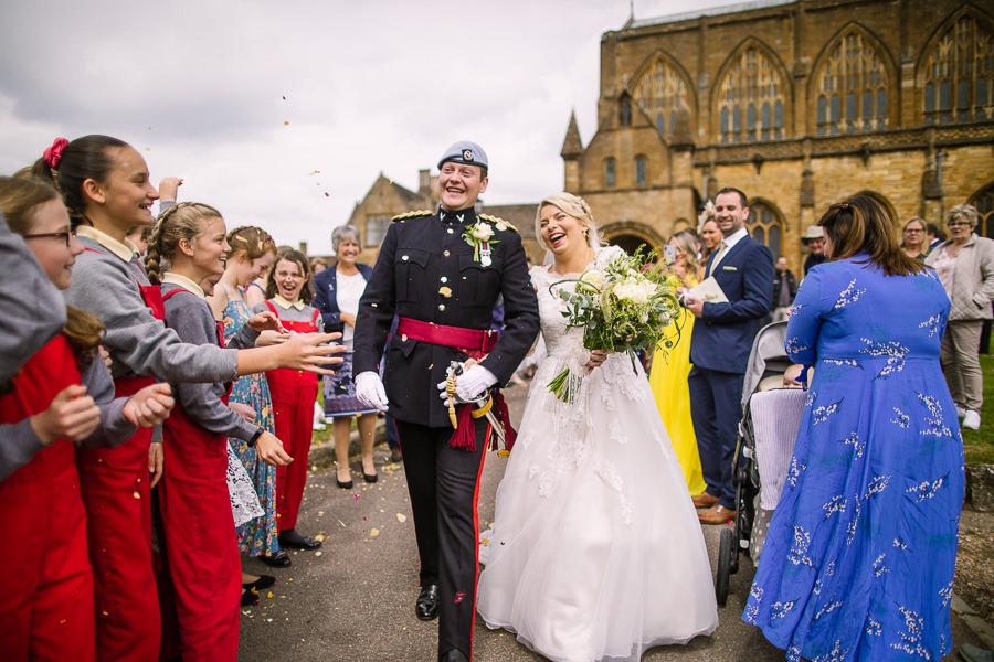 Richard & Ruth's military black tie wedding at Sherborne Abbey, with Nisha Haq Photography (22)