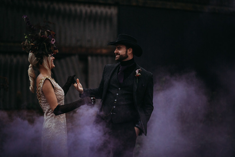 Sustainable and beautiful halloween wedding style, image credit Thyme Lane Photography (6)