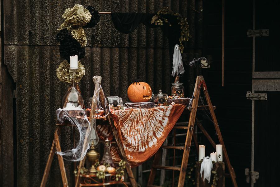 Sustainable and beautiful halloween wedding style, image credit Thyme Lane Photography (47)