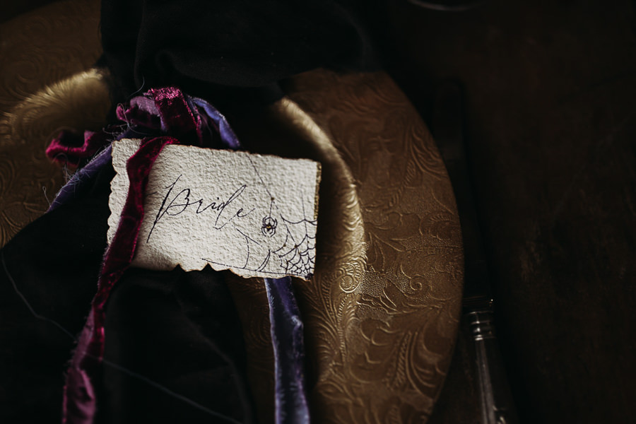Sustainable and beautiful halloween wedding style, image credit Thyme Lane Photography (39)