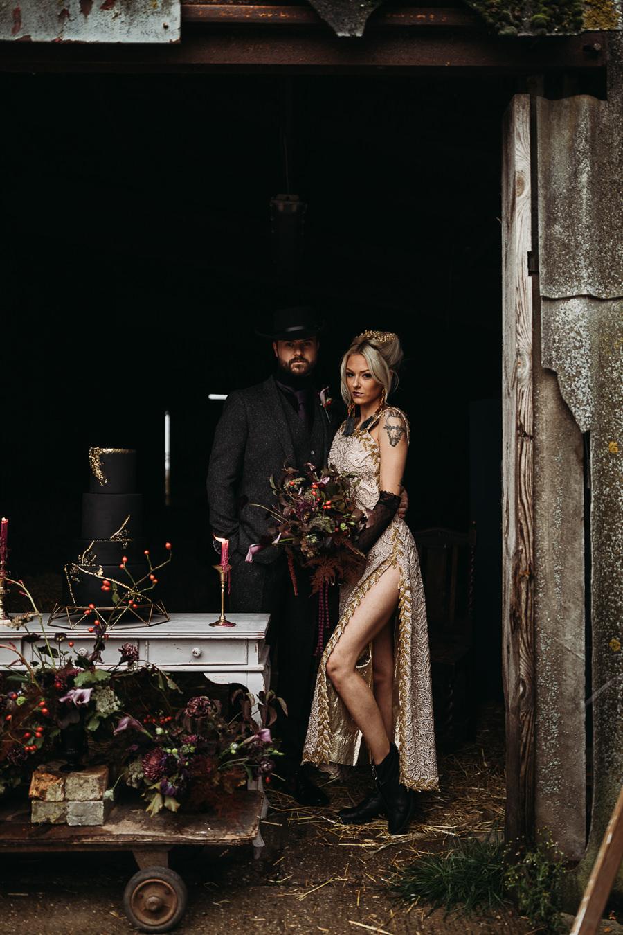 Sustainable and beautiful halloween wedding style, image credit Thyme Lane Photography (31)