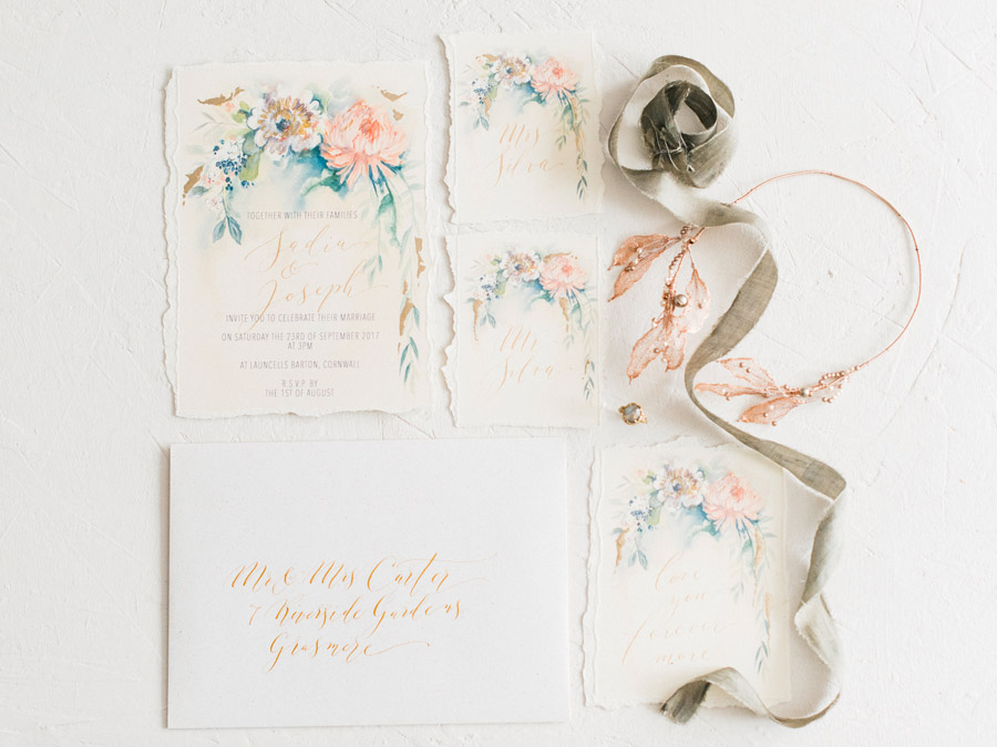 Calligraphy for weddings by Claire Gould, By Moon and Tide Calligraphy UK (3)