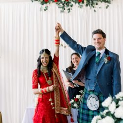 Kiran and Ross's joyful Indian and Scottish wedding, with Hannah K Photography