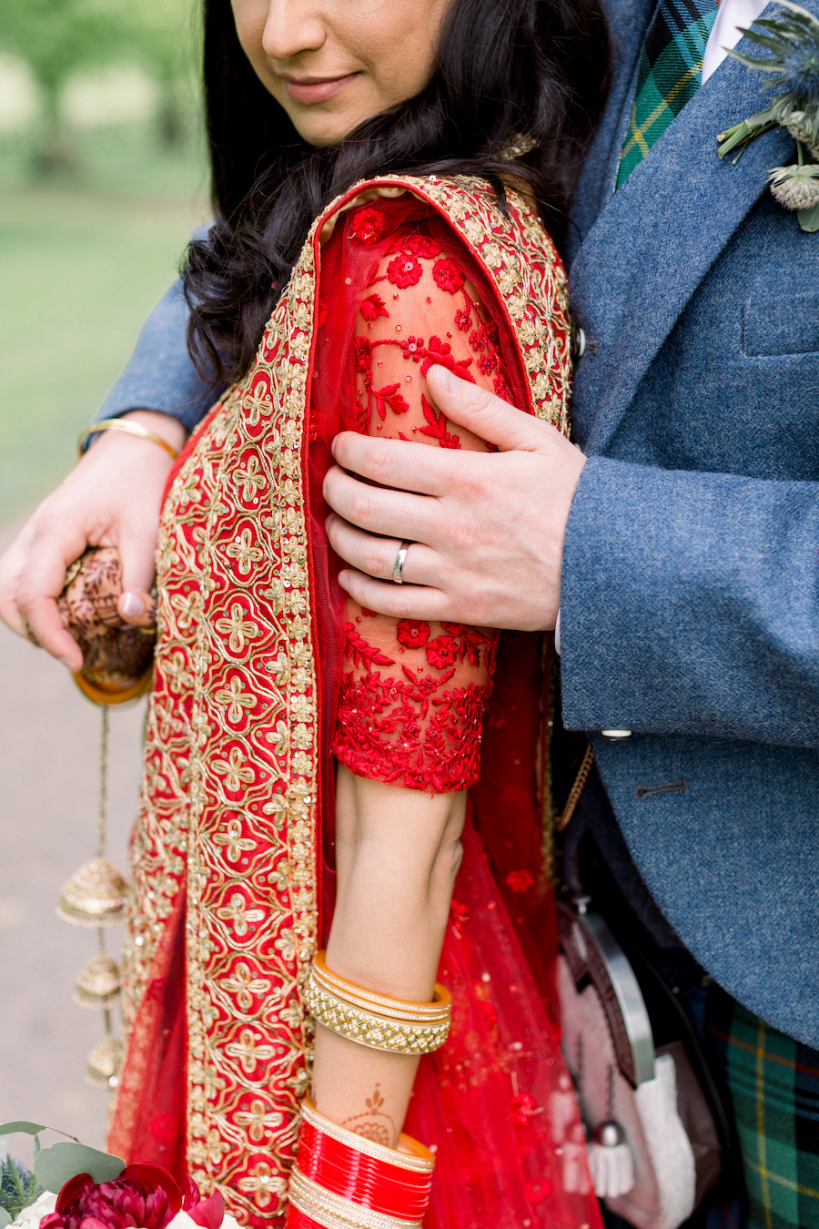 Kiran and Ross's Scottish Indian abbey wedding, with Hannah K Photography (21)