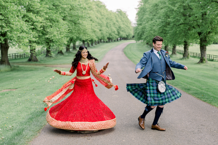 Kiran and Ross's Scottish Indian abbey wedding, with Hannah K Photography (25)