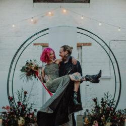 Alternative Monochrome wedding inspo at White Syke Fields