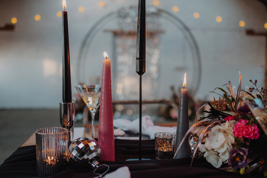 Alternative Monochrome wedding inspo at White Syke Fields with Alt Wedding Co (7)