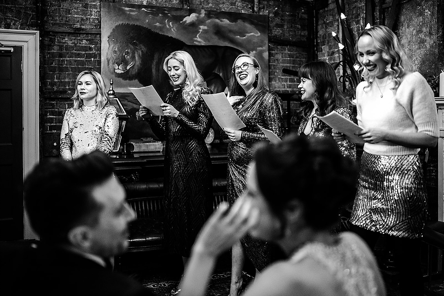 Mike & Khiley's sophisticated and FUN black tie wedding at Brunswick House, with Oliver Holder Photography (17)