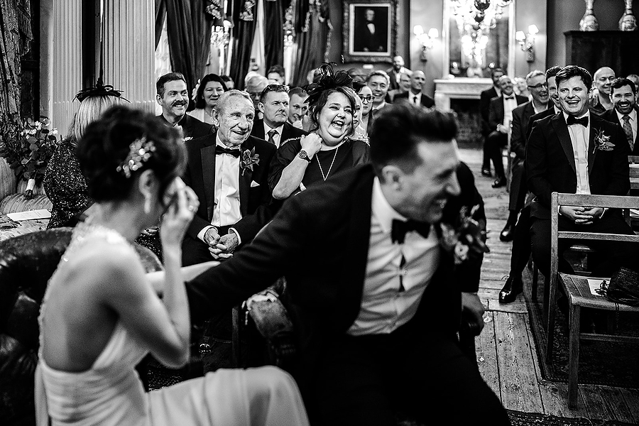 Mike & Khiley's sophisticated and FUN black tie wedding at Brunswick House, with Oliver Holder Photography (18)