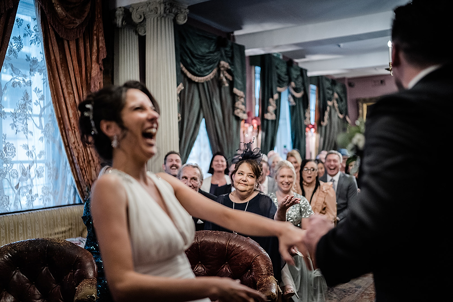 Mike & Khiley's sophisticated and FUN black tie wedding at Brunswick House, with Oliver Holder Photography (22)