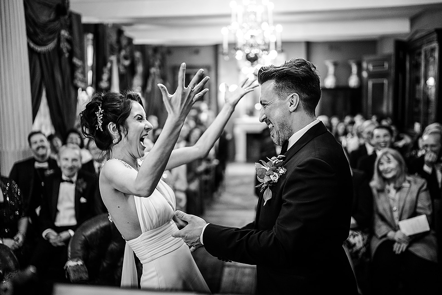 Mike & Khiley's sophisticated and FUN black tie wedding at Brunswick House, with Oliver Holder Photography (23)