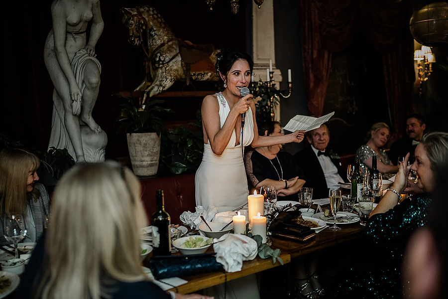 Mike & Khiley's sophisticated and FUN black tie wedding at Brunswick House, with Oliver Holder Photography (37)