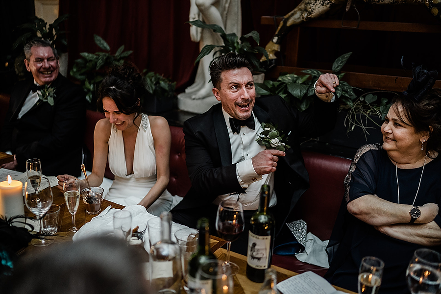 Mike & Khiley's sophisticated and FUN black tie wedding at Brunswick House, with Oliver Holder Photography (38)
