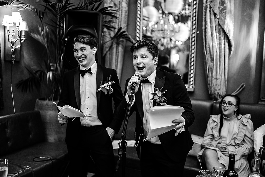 Mike & Khiley's sophisticated and FUN black tie wedding at Brunswick House, with Oliver Holder Photography (39)