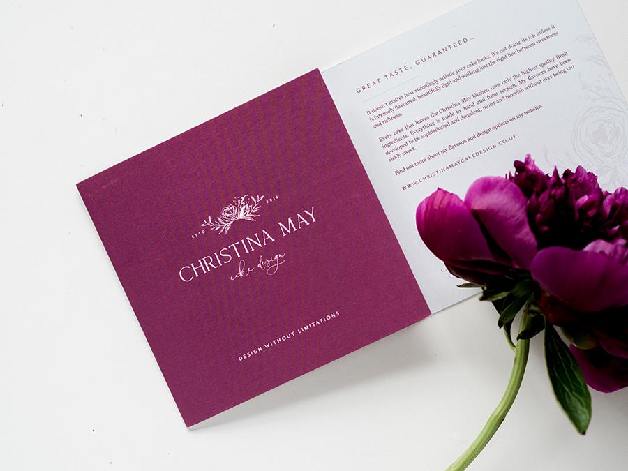 Christina May Wedding Cake Design - brochure