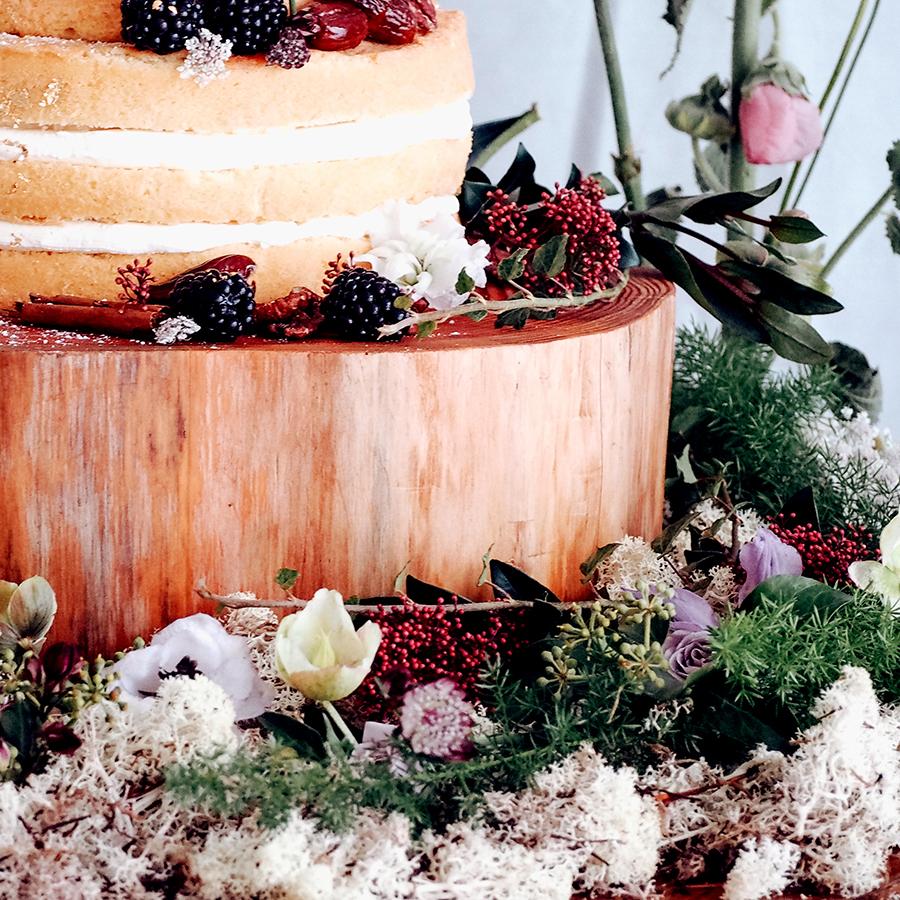 Wedding cake styled table example