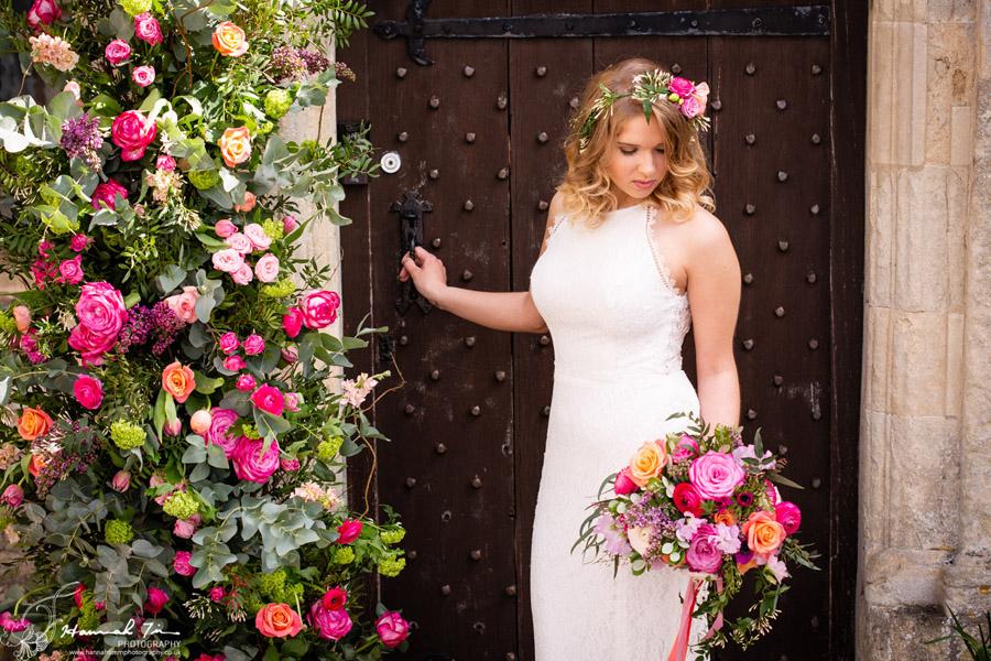 Fabulous spring colour for an Old Church Farm wedding! Photography credit Hannah Timm (9)