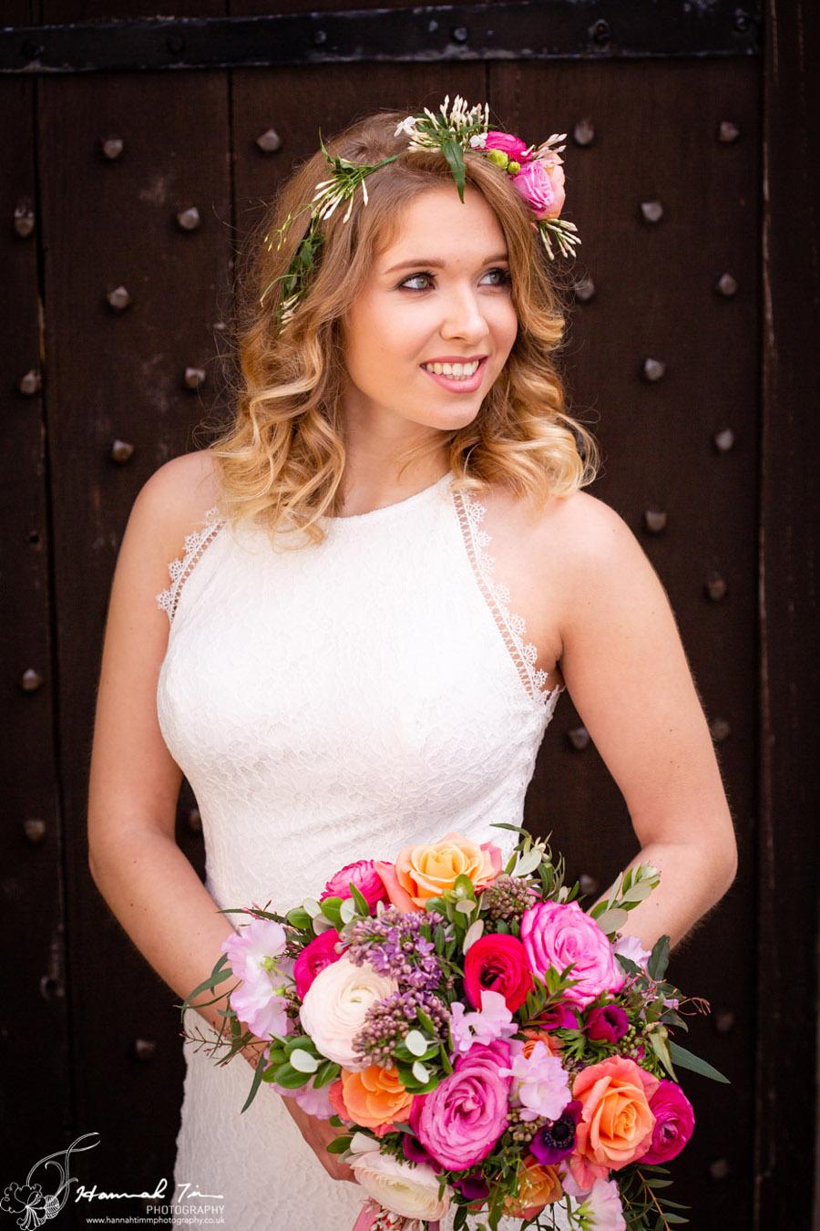 Fabulous spring colour for an Old Church Farm wedding! Photography credit Hannah Timm (10)